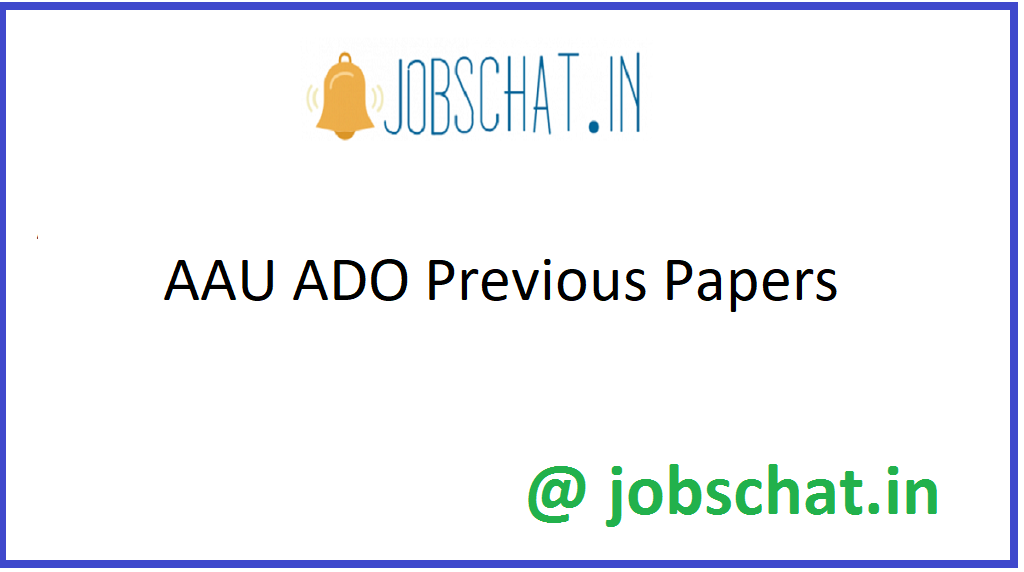AAU ADO Previous Papers