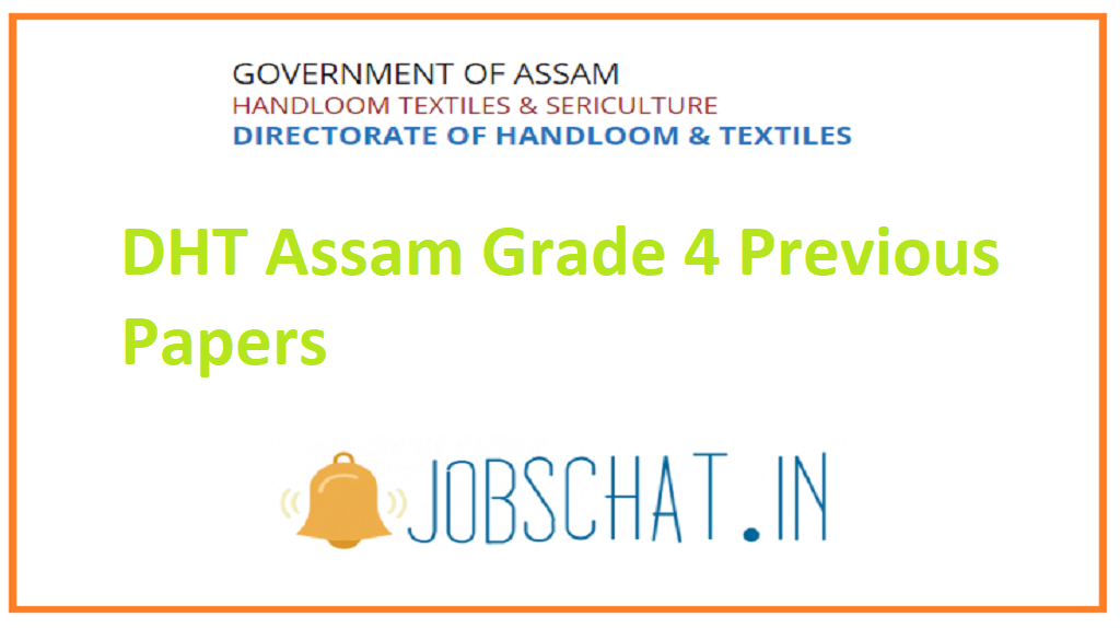 DHT Assam Grade 4 Previous Papers
