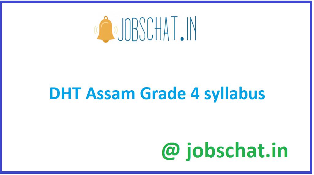 DHT Assam Grade 4 Syllabus