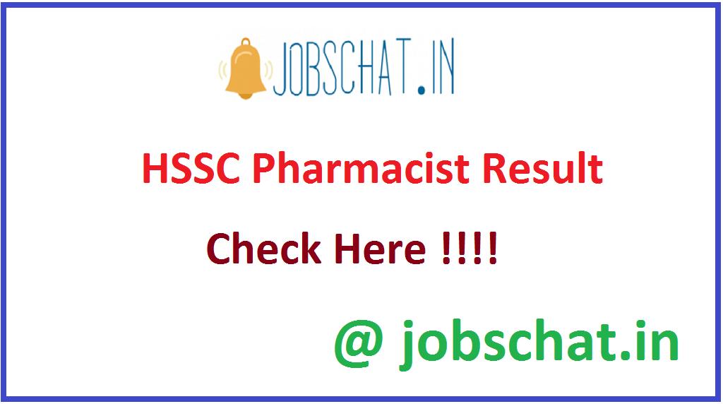HSSC Pharmacist Result