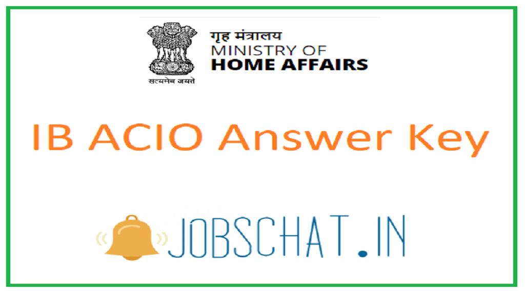 IB ACIO Answer Key