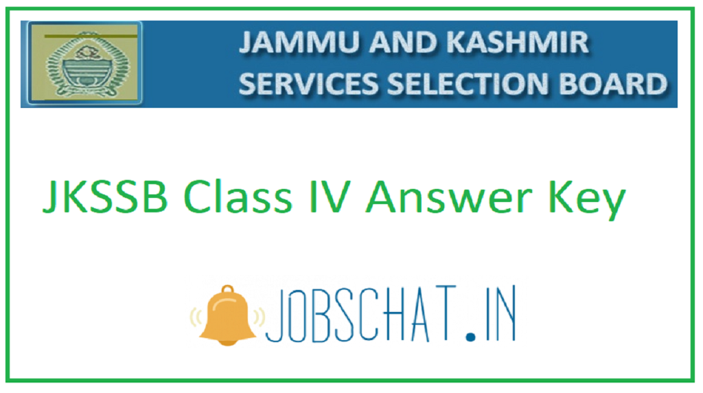 JKSSB Class IV Answer Key
