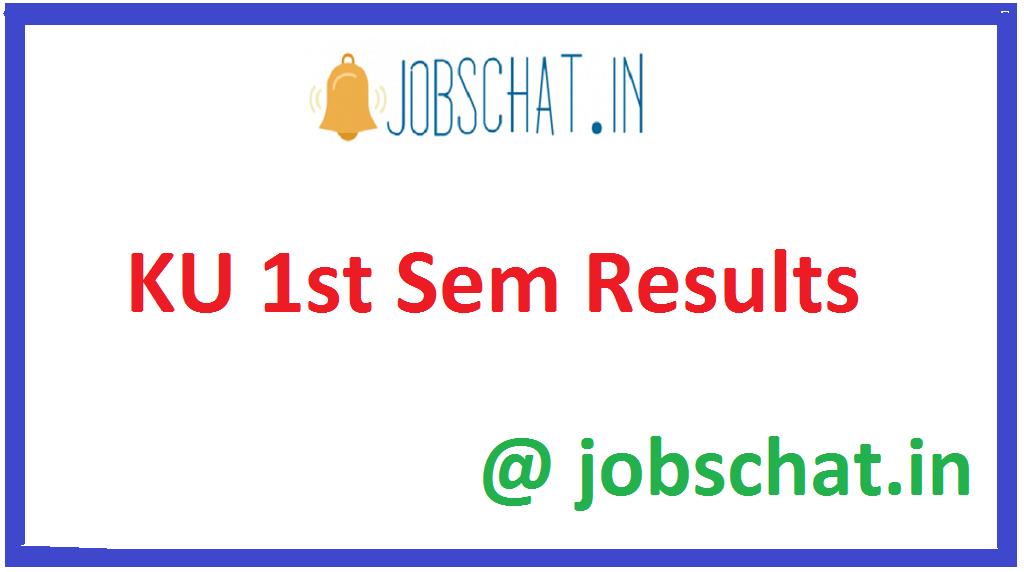 KU 1st Sem Results