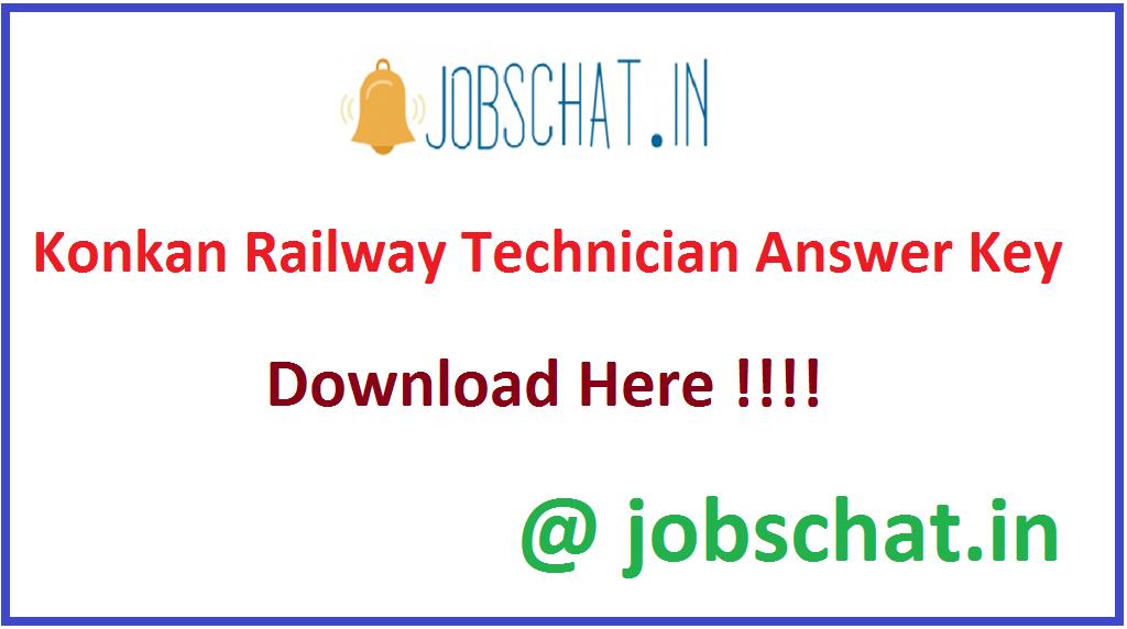 Konkan Railway Technician Answer Key