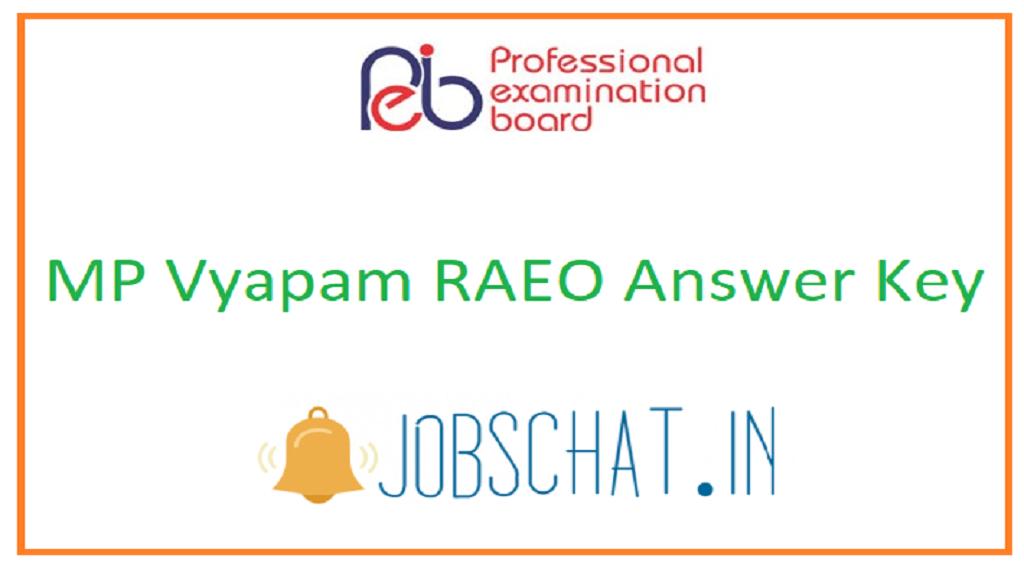 MP Vyapam RAEO Answer Key