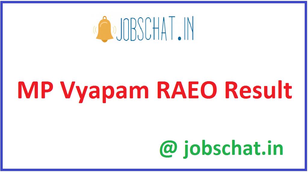 MP Vyapam RAEO Result