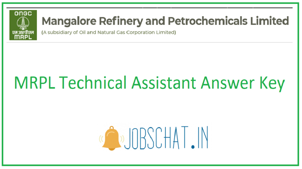 MRPL Technical Assistant Answer Key