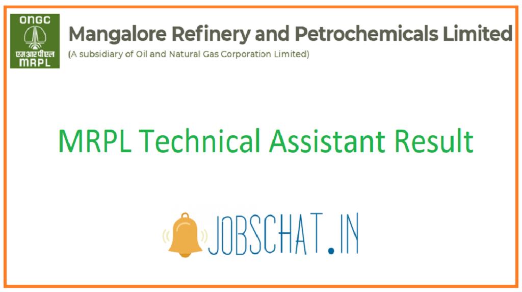 MRPL Technical Assistant Result