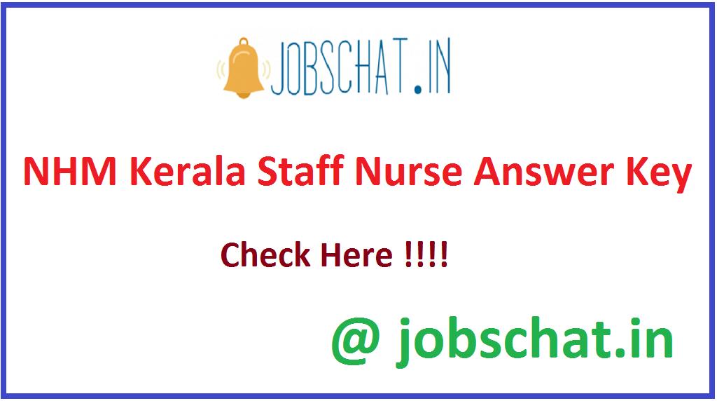 NHM Kerala Staff Nurse Answer Key