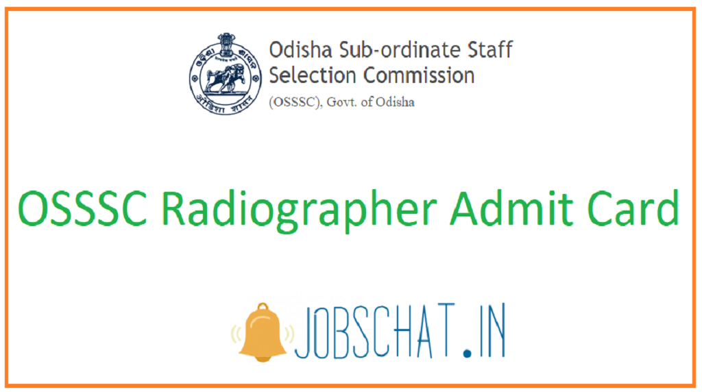 OSSSC Radiographer Admit Card