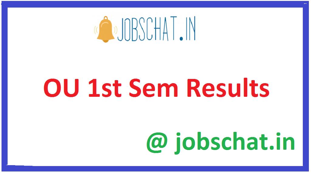 OU 1st Sem Results
