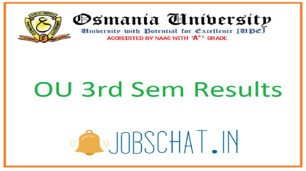 OU 3rd Sem Results