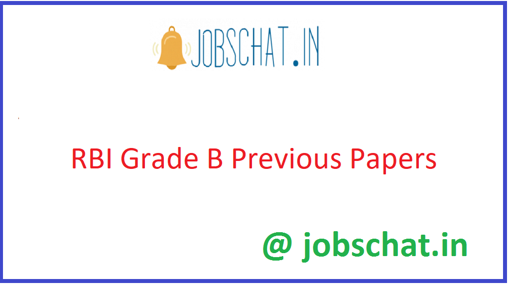 RBI Grade B Previous Papers