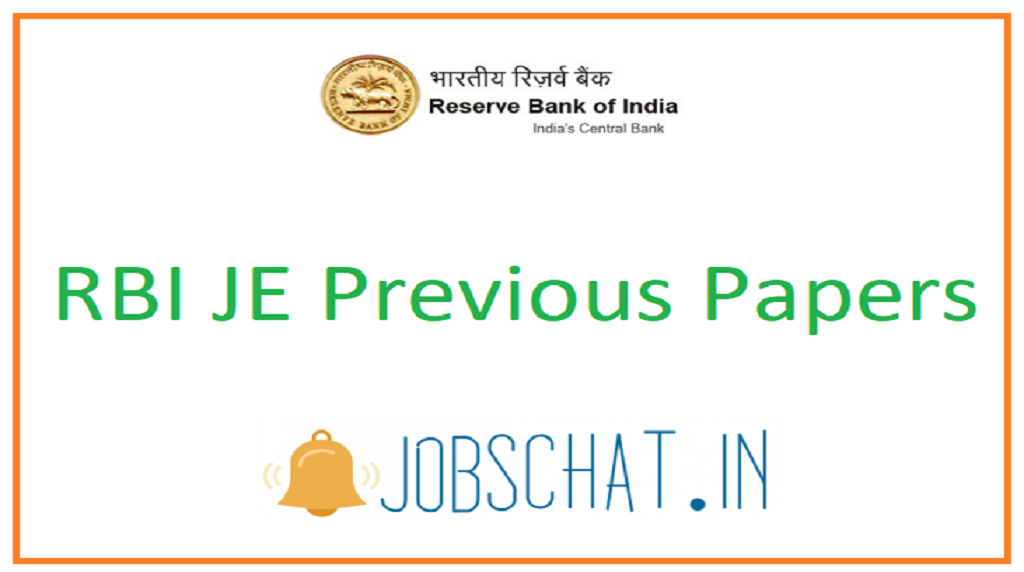 RBI JE Previous Papers
