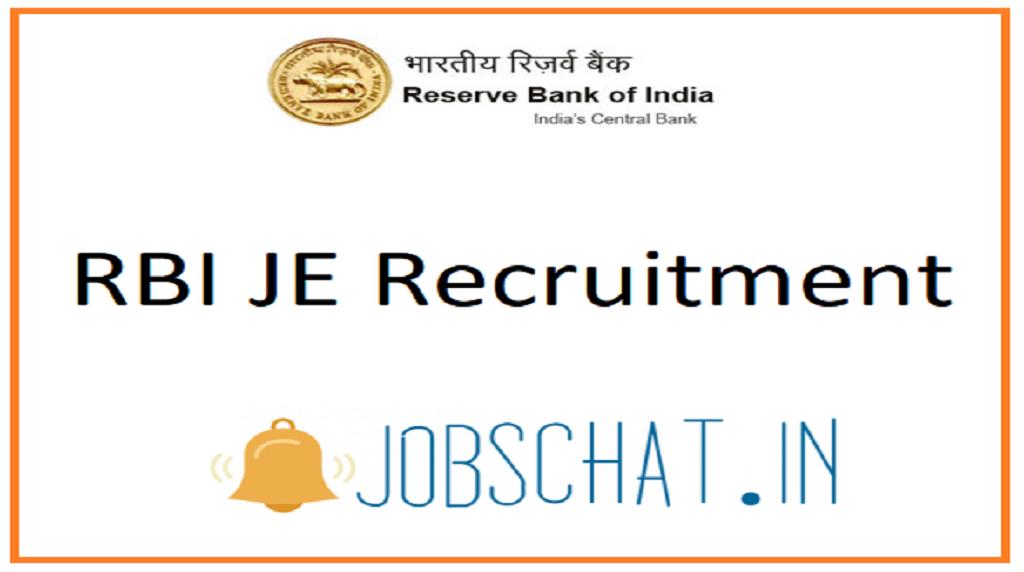 RBI JE Recruitment