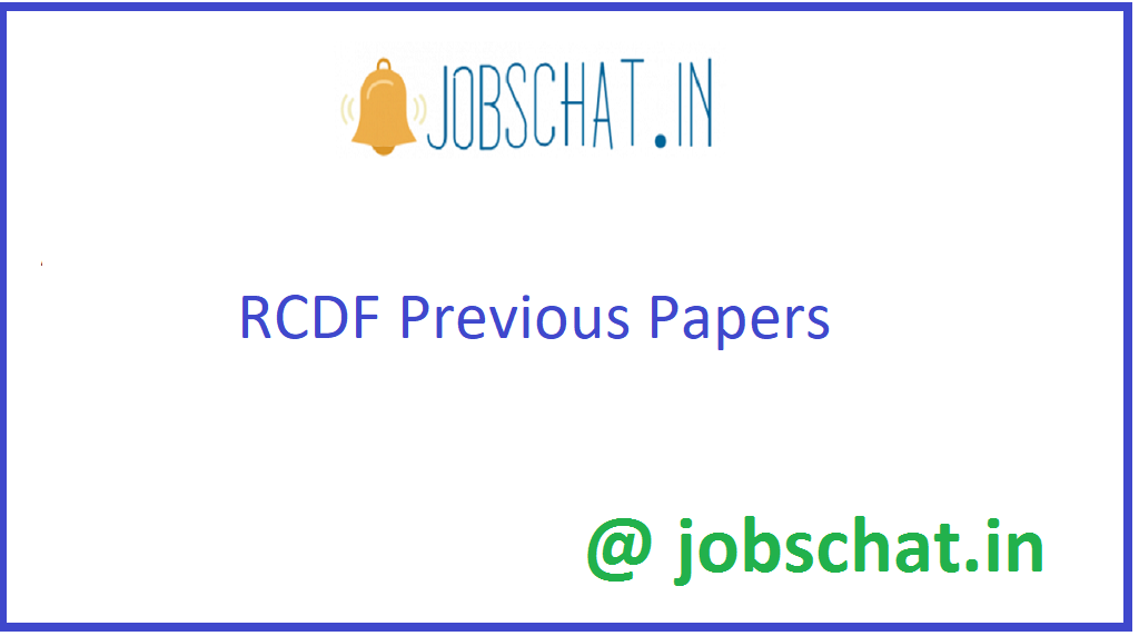 RCDF Previous Papers