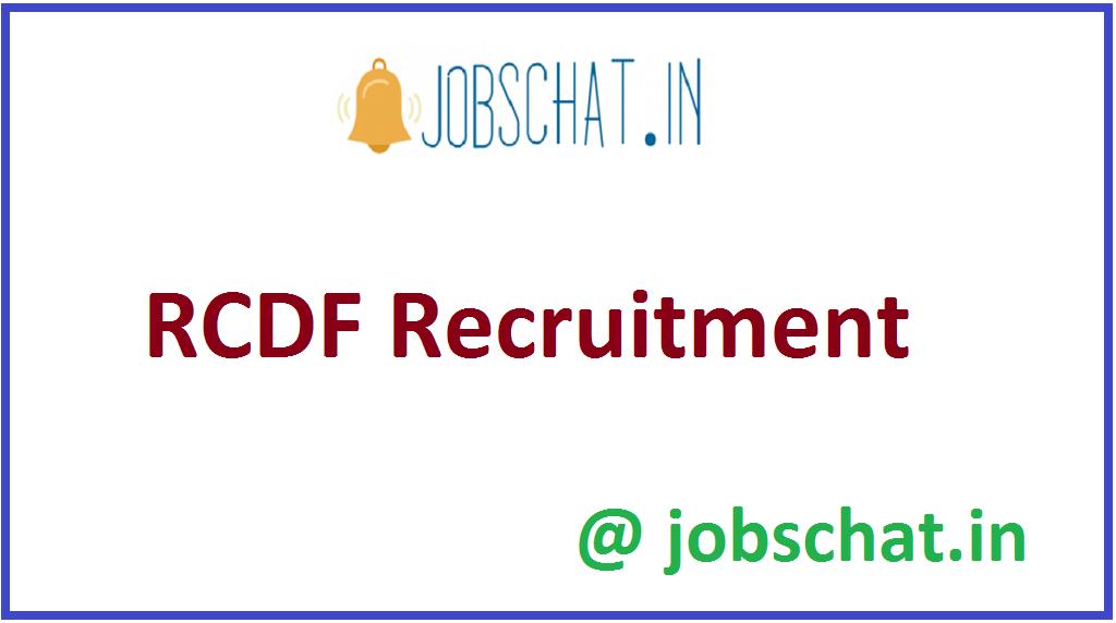 RCDF Recruitment