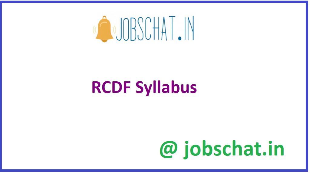 RCDF Syllabus