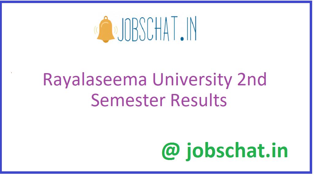 Rayalaseema University 2nd Semester Results