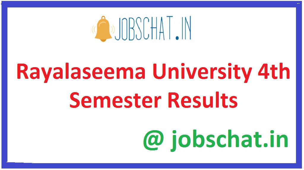 Rayalaseema University 4th Semester Results