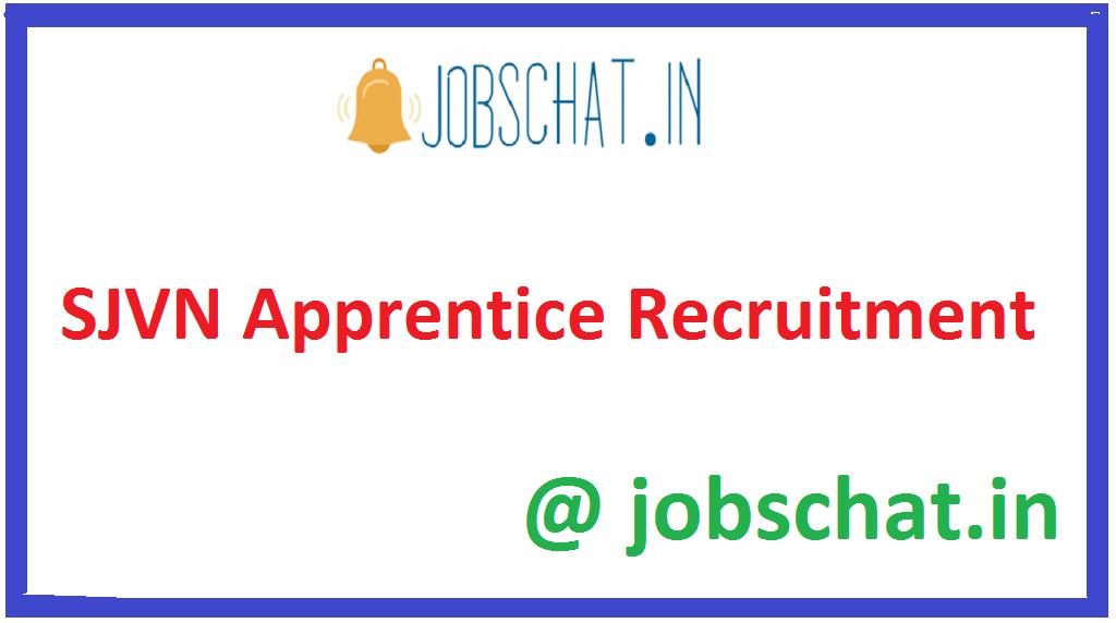 SJVN Apprentice Recruitment