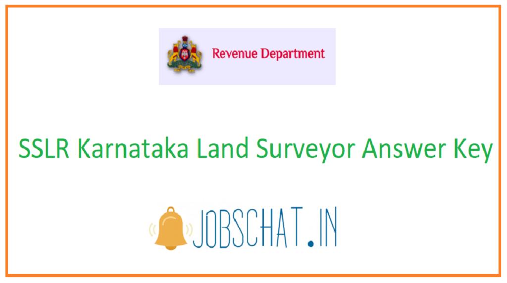 SSLR Karnataka Land Surveyor Answer Key