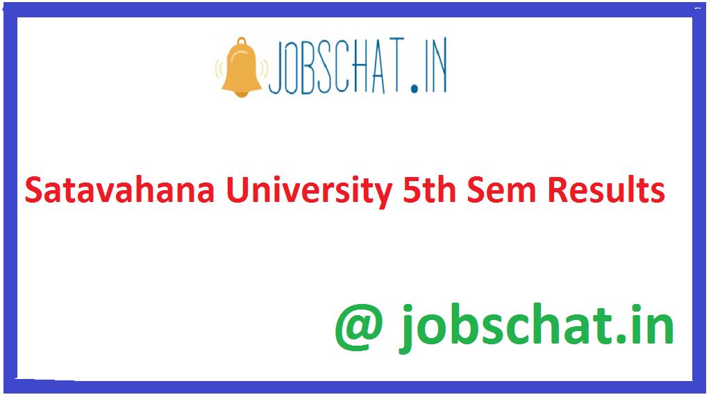 Satavahana University 5th Sem Results