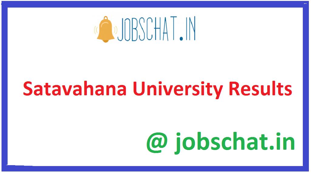 Satavahana University Results