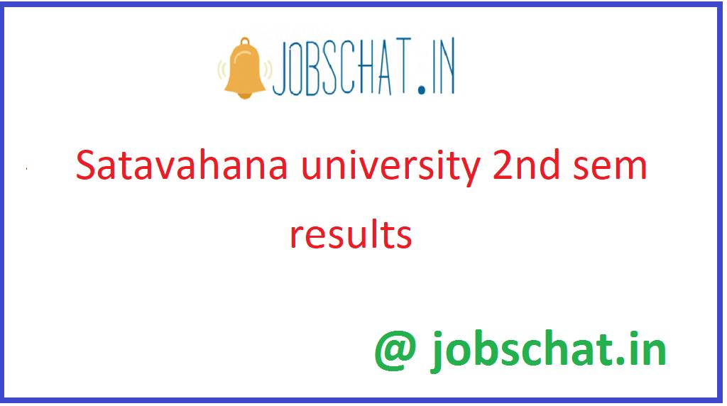 Satavahana University 2nd Sem Results