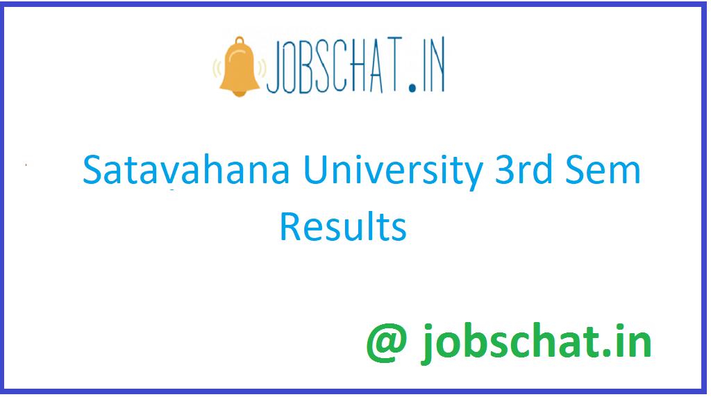 Satavahana University 3rd Sem results