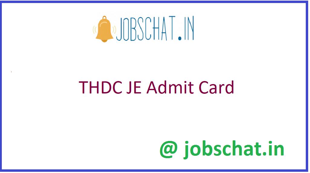 THDC JE Admit Card