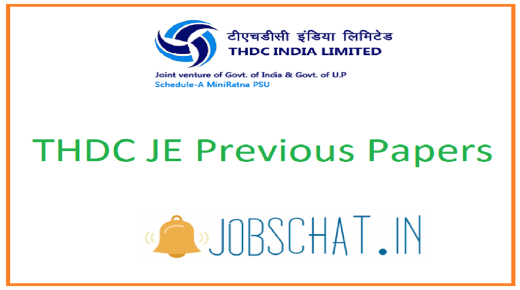 THDC JE Previous Papers