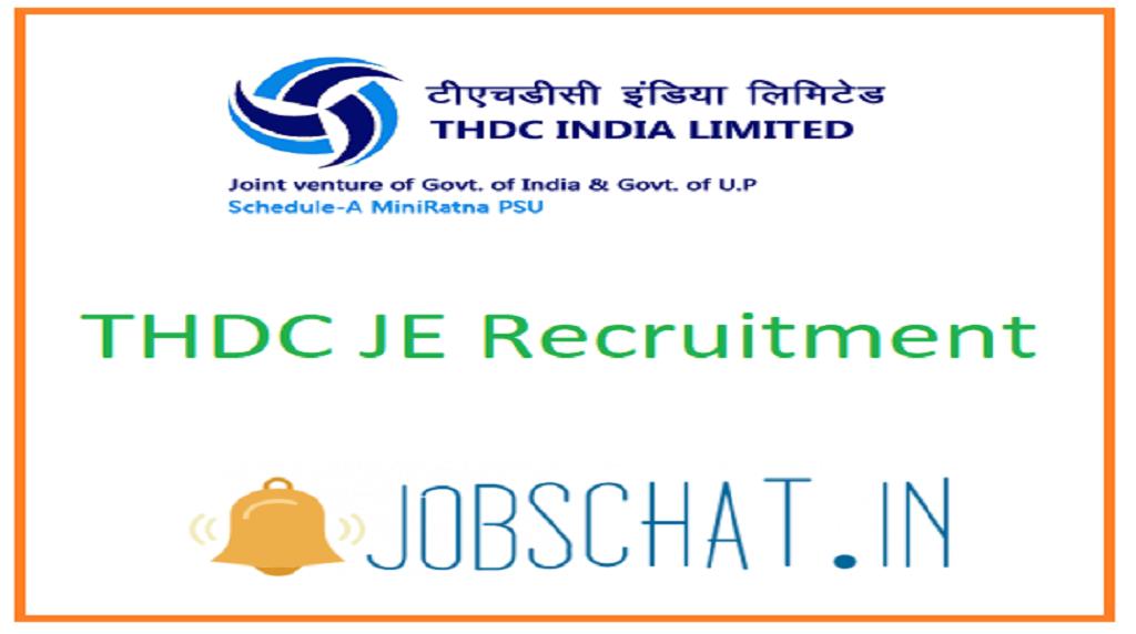 THDC JE Recruitment