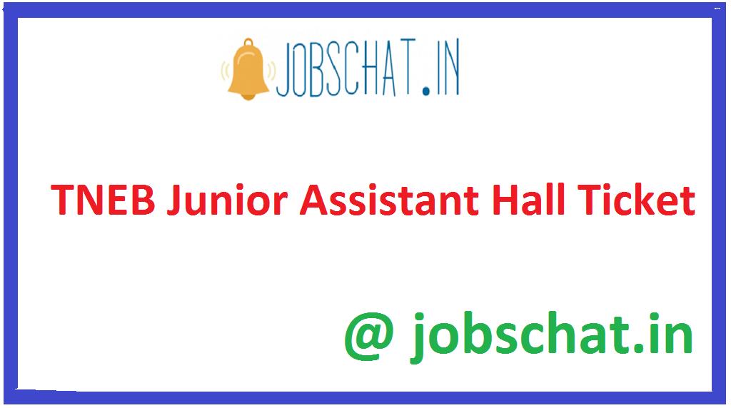 TNEB Junior Assistant Hall Ticket