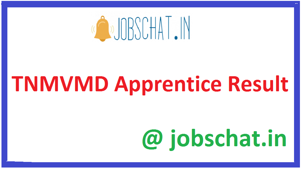 TNMVMD Apprentice Result