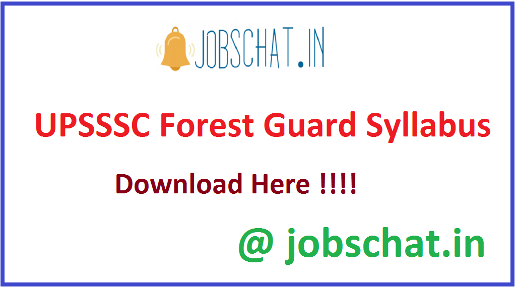 UPSSSC Forest Guard Syllabus