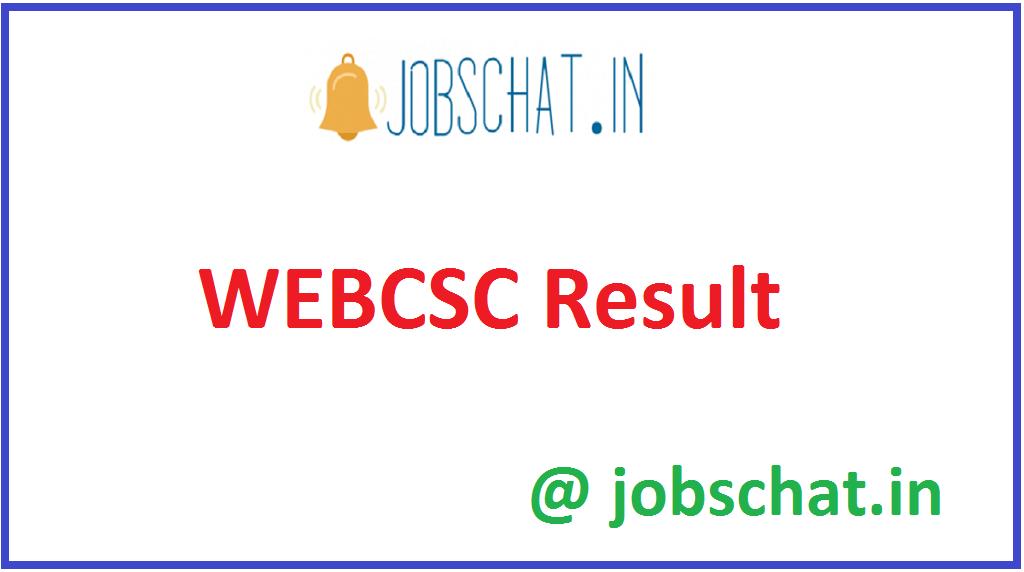 WEBCSC Result