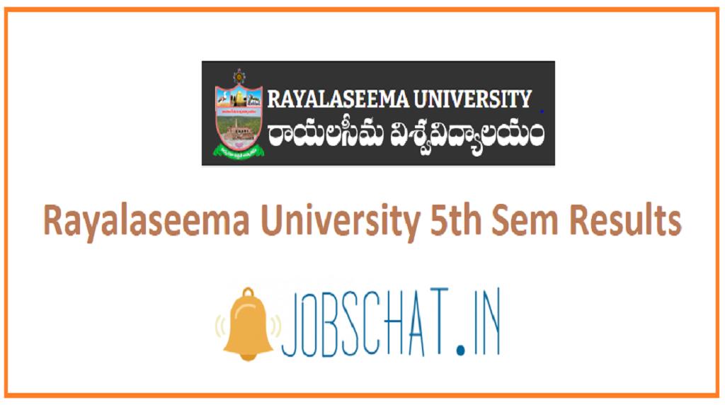 Rayalaseema University 5th Semester Results