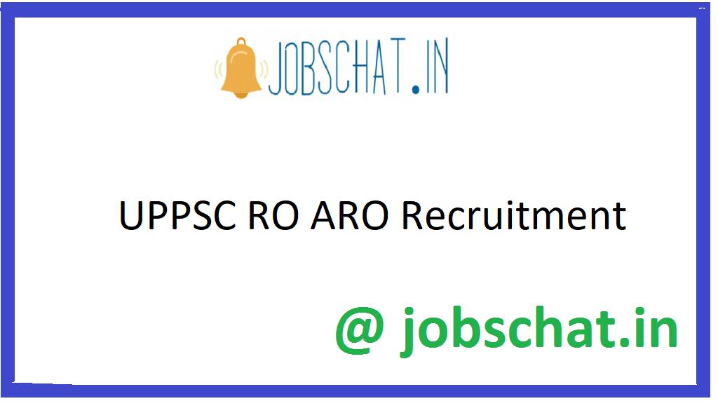 UPPSC RO ARO Recruitment