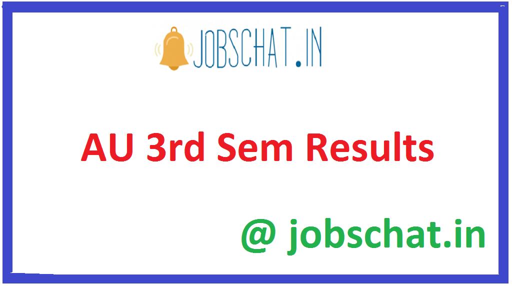 AU 3rd Sem Results