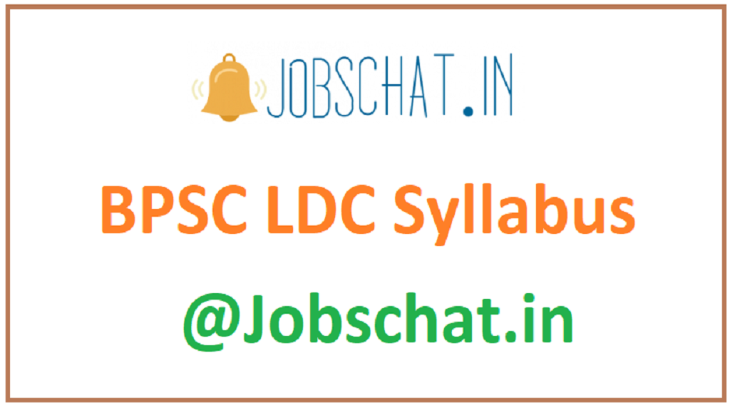 BPSC LDC Syllabus