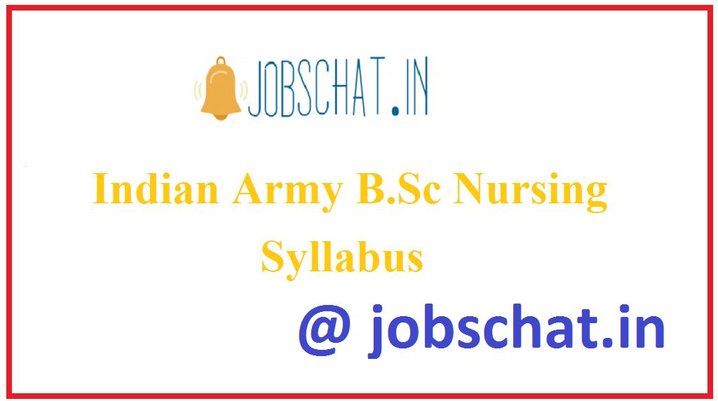 Indian Army B.Sc Nursing Syllabus