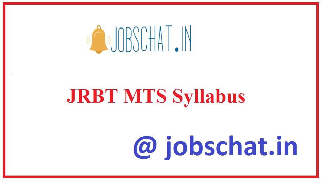 JRBT MTS Syllabus