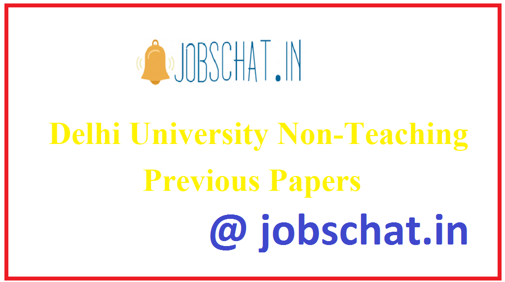 Delhi University Non-Teaching Previous Papers