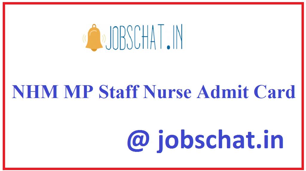 NHM MP Staff Nurse Admit Card
