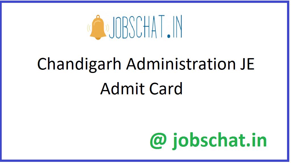 Chandigarh Administration JE Admit Card