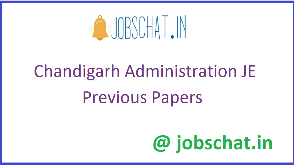 Chandigarh Administration JE Previous Papers