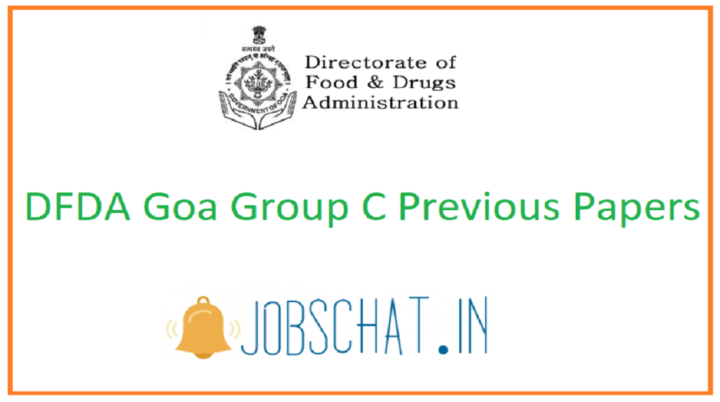 DFDA Goa Group C Previous Papers