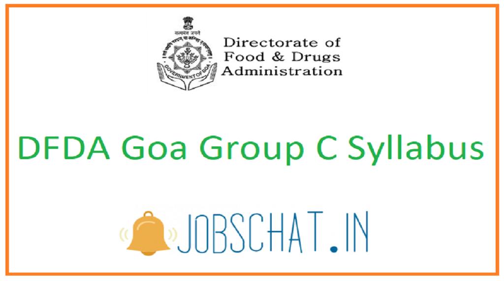 DFDA Goa Group C Syllabus