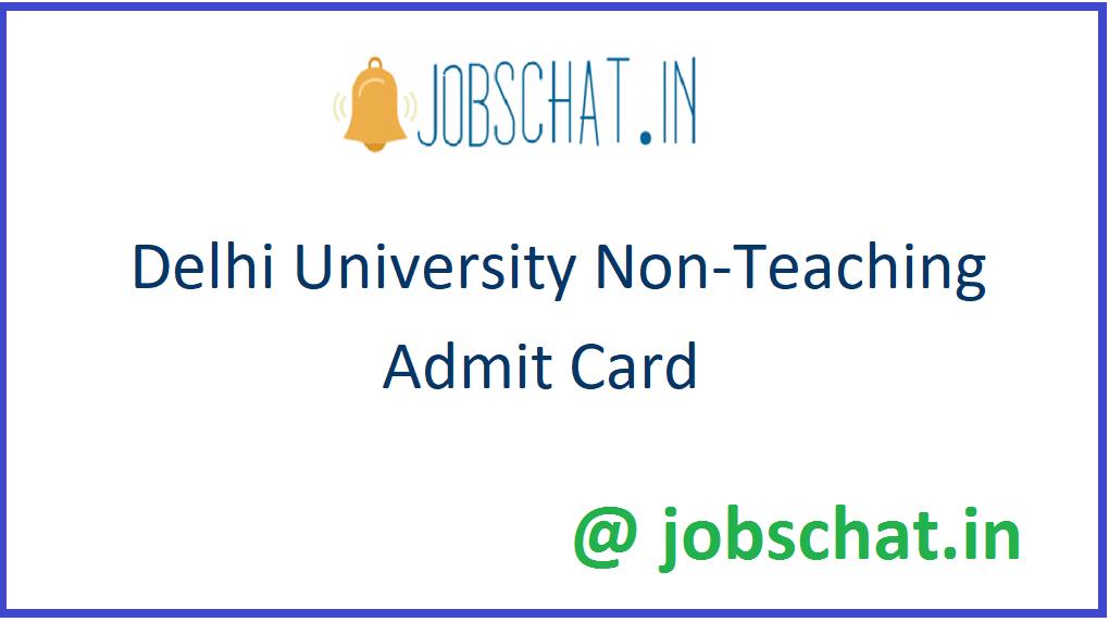 Delhi University Non-Teaching Admit Card